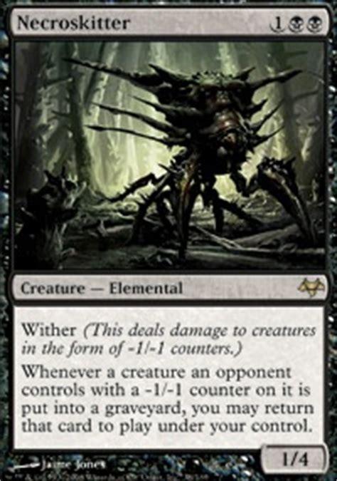 mtg skeleton edh deck black wither legacy mtg deck