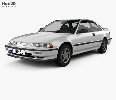 acura integra coupe 1991 3d model humster3d