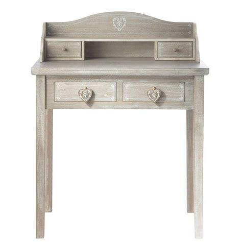 bureau 80 cm bureau secrétaire en bois gris l 80 cm camille maisons