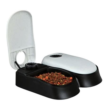 timed cat feeder new automatic pet feeder cat timed food bowl ebay