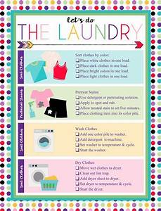 Free Printable Laundry Chart