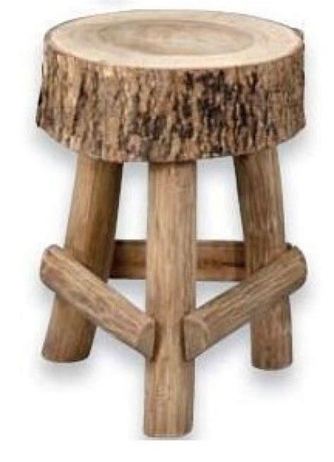 tuin kruk hout mooie kruk met stuk van boomstam leenbakker christophe
