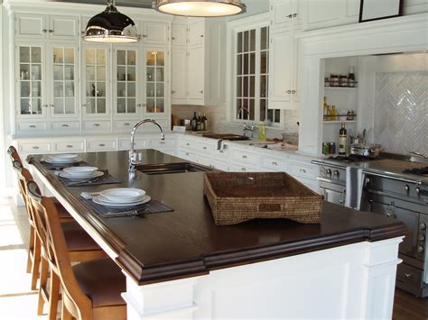 kitchen island counter premium wide plank wood countertops brooks custom
