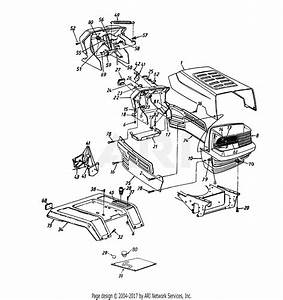 Mtd 14ai845h129  2001  Parts Diagram For Hood Style 5