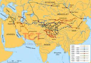 Ancient Silk Road Route Map