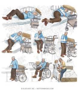 transfer from bed to wheelchair after stroke