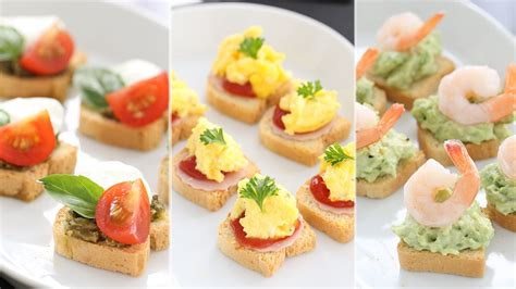 canape toppings 日本語 mini toast appetizers ミニトーストのアペタイザー