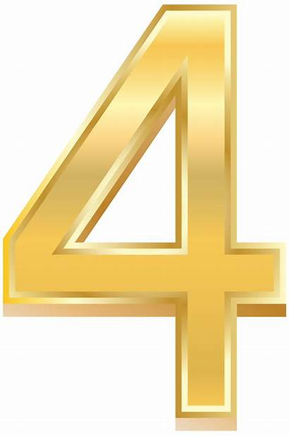 Number Four Clip Clipart Numbers Transparent Decorative