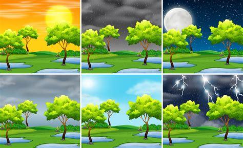 Set of nature landscape different weather 446226 ...