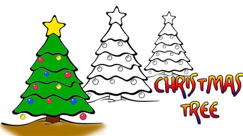 easy christmas drawings christmas tree drawings easy