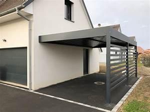 Car Port Alu : nouveau carport en aluminium adoss toit plat anavi ~ Melissatoandfro.com Idées de Décoration