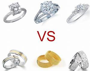 engagement ring vs wedding ring With engagement ring vs wedding ring