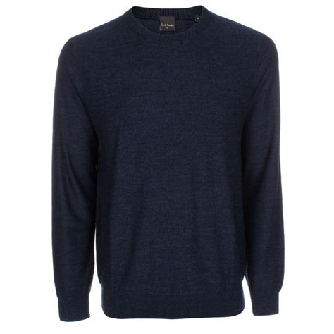 mens cardigan sweaters navy paul smith 39 s navy marl merino wool sweater in blue for