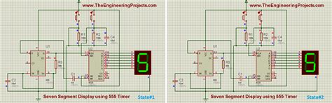 Seven Segment Display Using Timer Proteus Isis
