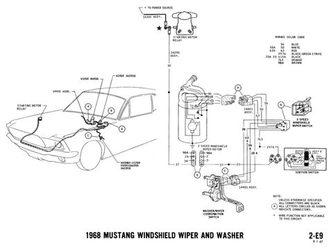 67 Mustang Coupe Window Diagram by 1968 Mustang Wiring Diagrams And Vacuum Schematics
