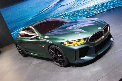 Bmw Concept M8 Gran Coupe A Low And Mean, Greenish-gray
