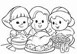 Dinner Turkey Drawing Thanksgiving Coloring Pages Meal Getdrawings sketch template