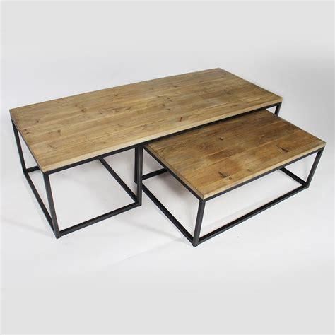 table basse gigogne table basse industrielle gigogne made in meubles