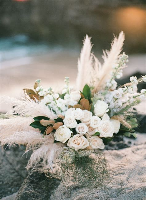 Raspberry and mint bohemian wedding bouquets. Natural Pampas Grass - 20 Pack in 2020   Wedding flowers ...