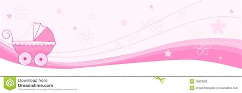 baby girl banner header stock vector illustration
