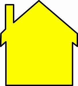 Yellow House Outline Clip Art at Clker.com - vector clip ...