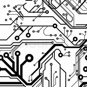 seamless printed circuit board pattern stock vector With circuit board image