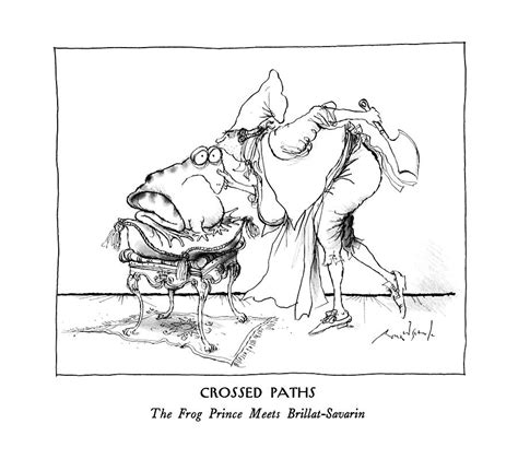 crossed paths  frog prince meets  ronald searle