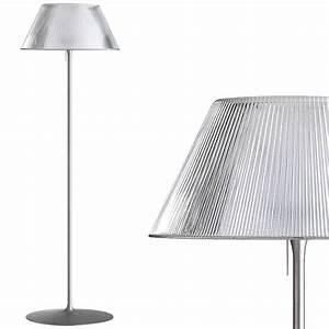 flos romeo moon f floor lamp glass fu610300 stardust With costura f floor lamp