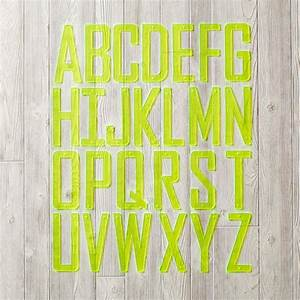 neon yellow acrylic wall letters the land of nod With land of nod wall letters