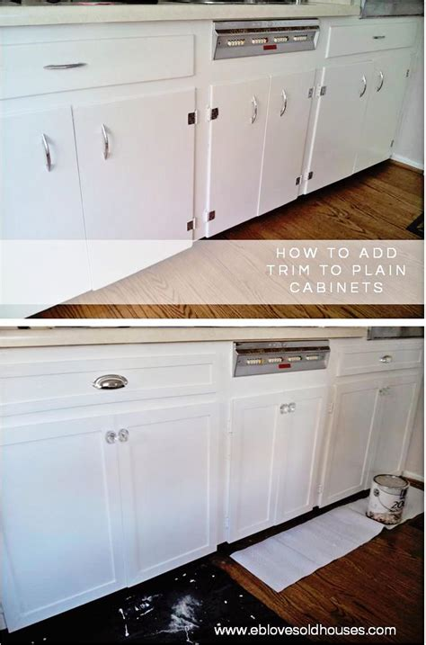 adding trim to plain cabinets kitchen cabinets makeover brooklyn house elizabeth