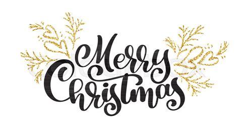 texts merry christmas written stock vector colourbox