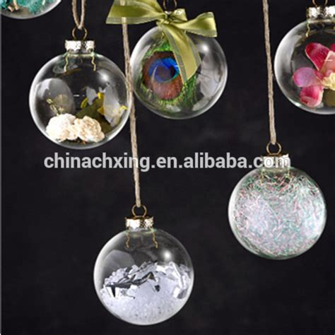 different sizes clear hanging glass balls bauble for