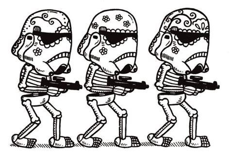 Storm Trooper Skeletons SVG | Star wars sugar skull, Star ...