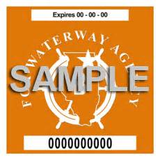 Boat Registration And Safety Act Illinois by Fwa Stickers Fox Waterway Agency