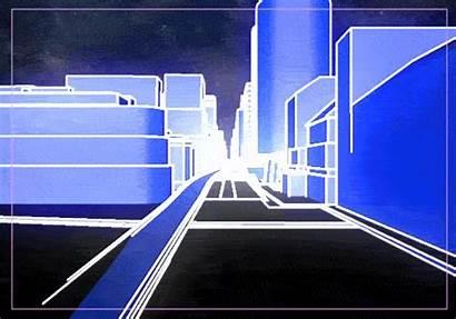 Future Retro Futuristic Gifs Tron Kidmograph Loop