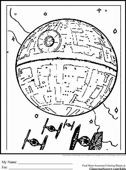 Coloring Death Star Pages Wars Colouring Printable