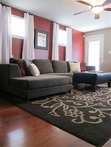 1000 ideas about red accent walls on pinterest red for Gray and red living room