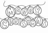 Coloring Christmas Pages Merry Ornament Decoration Ornaments Printable Sheets Colouring Printables Children Xmas Nice Hope Kidsdrawing Colors Wish Cards Visit sketch template