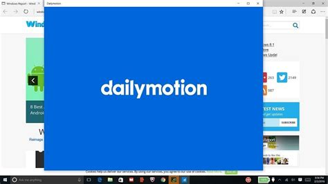 dailymotion app for windows 10 is now universal