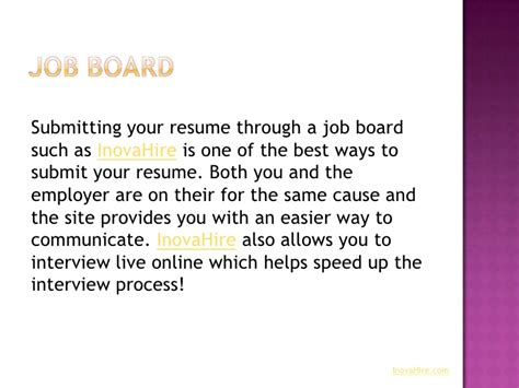 ways to submit your resume
