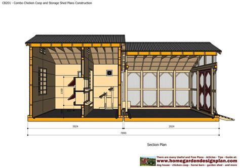 home garden plans cb combo plans chicken coop