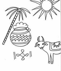 The gallery for --> Pongal Festival Drawing For Kids