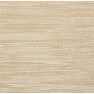 Brewster 56 sq. ft. Lepeka Beige Faux Grasscloth Wallpaper ...