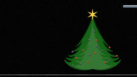 christmas tree with black background wallpaper