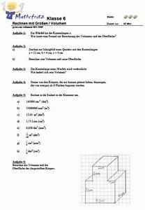 Volumen Berechnen übungen 6 Klasse : mathematik aufgaben gr en 6 klasse bungsbl tter ausdrucken ~ Themetempest.com Abrechnung