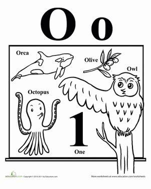 words that start with o worksheet education 338 | words start the alphabet preschool