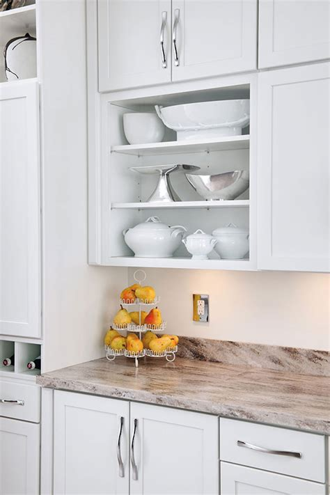 wall open cabinet aristokraft cabinetry