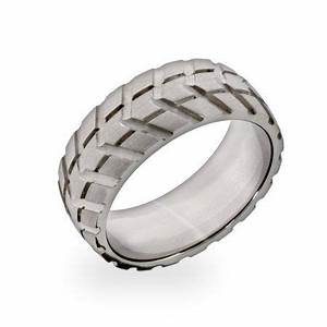 don39t tread on me a tire track pattern adds edge to this With tire track wedding rings