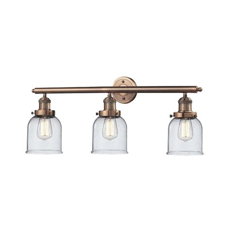 copper vanity light shop innovations lighting 3 light 11 in antique copper