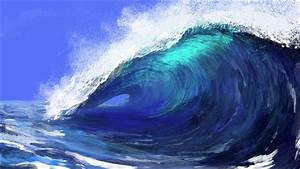 Wave of the sea - Photoshop speed painting - YouTube  Wave